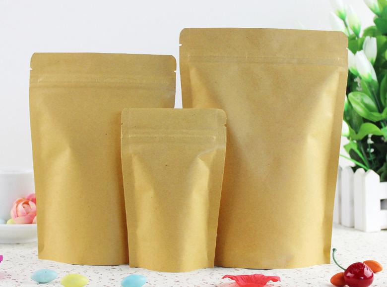 Kraft Paper zipperlock pouch