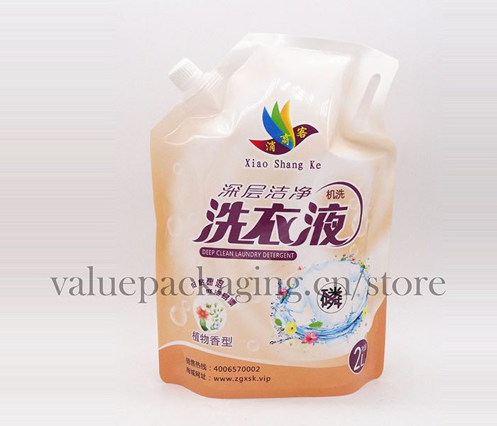 174-1 2Liter standup cap doypack for detergent liquids