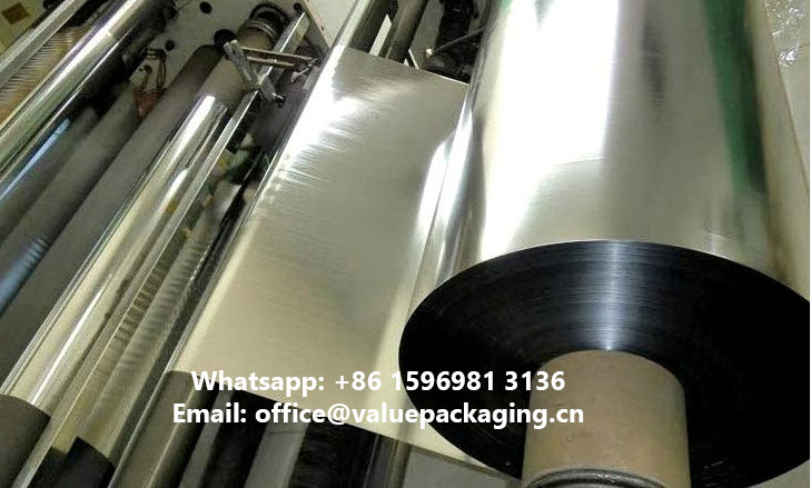 Metallized-polyester-film-on-release-roller