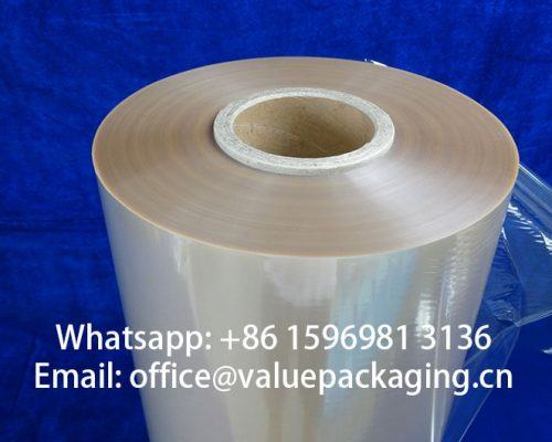 Clear-compostable-cellulose-film-roll-standing