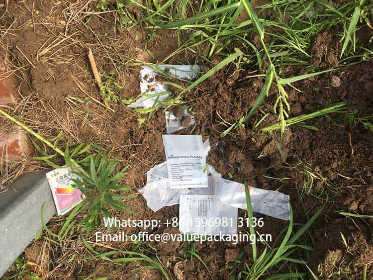 BOPLA-PLA-compostable-foil-laminate-buried-in-soil