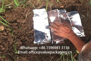 Metallized-Paper-buried-in-earth-soil